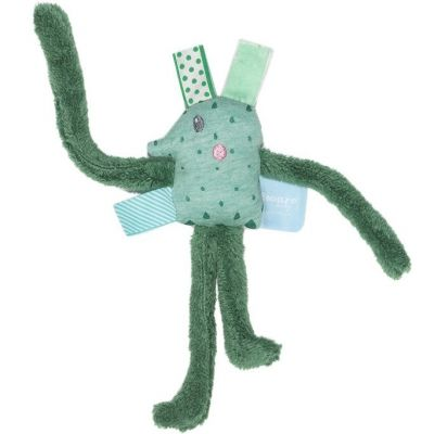 Doudou étiquettes Larry Long Forest Green (20 cm) Snoozebaby