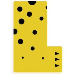 Lettre décorative félin L (coloris aléatoire)