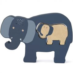 Puzzle bébé à encastrer en bois Mrs. Elephant