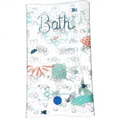 Tapis de bain avec témoin de température bleu