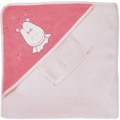 Cape de bain et gant blanc Mia et Victoria - Noukie's