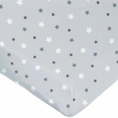 Drap housse étoile gris (60 x 120 cm)