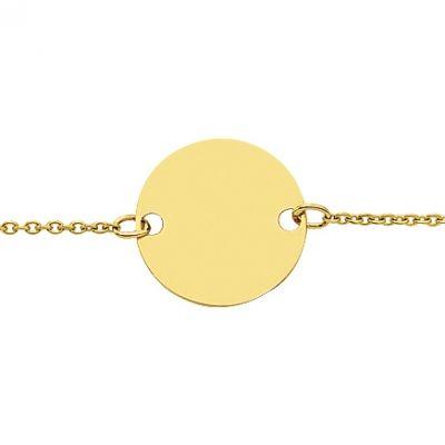 Gourmette pastille ( or jaune 750°)   par Berceau magique bijoux