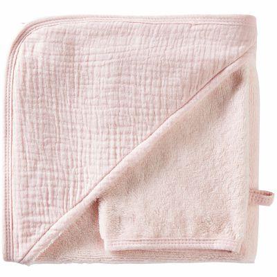 Cape de bain + gant en bambou rose blush Mix & Match (70 x 70 cm)  par BB & Co