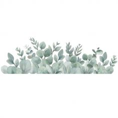 Grand sticker Greenery feuillages eucalyptus (80 x 25 cm)