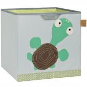 Cube de rangement jouets Wildlife Tortue (32,5 x 33,5 cm) - Lässig