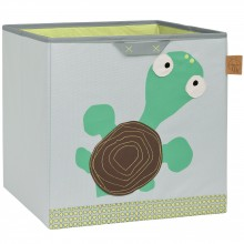 Cube de rangement jouets Wildlife Tortue (32,5 x 33,5 cm)  par Lässig
