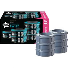 Lot de 6 recharges pour bac à couches Twist & click  par Tommee Tippee