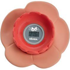 Thermomètre de bain Lotus corail