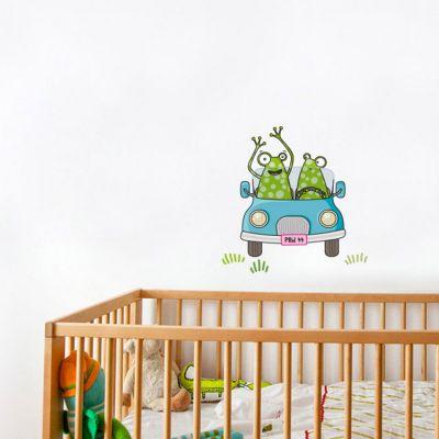Stickers muraux Grenouille voiturette  par Série-Golo