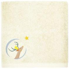 Serviette de bain jaune pâle Daim personnalisable (50 x 100 cm)