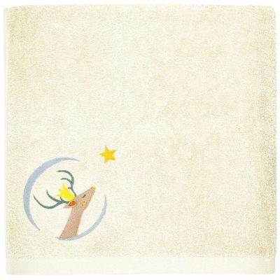 Serviette de bain jaune pâle Daim personnalisable (50 x 100 cm)  par L'oiseau bateau