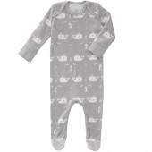 Pyjama léger Baleine grise (6-12 mois : 67 à 74 cm) - Fresk