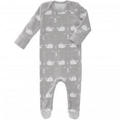 Pyjama léger Baleine grise (6-12 mois : 67 à 74 cm)