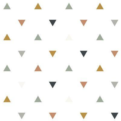 Papier peint motif triangles bleus gris beige (10 m)  par Lilipinso