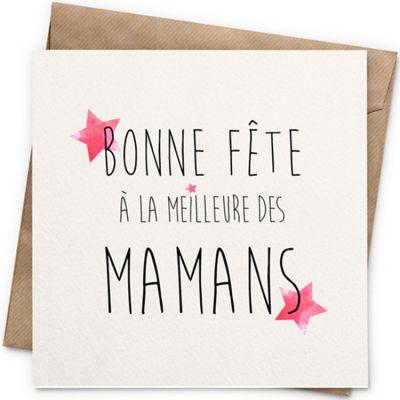 Carte Fête des mères (13 x 13 cm)  par La Poupette à paillettes