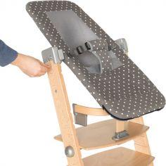 Transat Sit'n'sleep pour chaise haute Syt gris à pois