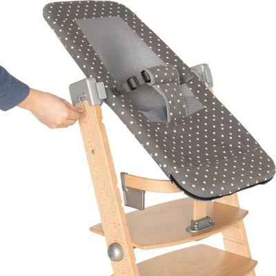 Transat Sit'n'sleep pour chaise haute Syt gris à pois  par Geuther