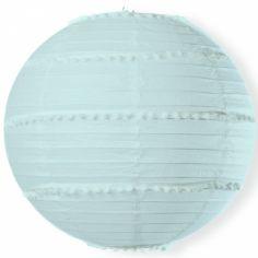 Boule japonaise pompons bleu