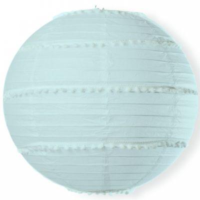 Boule japonaise pompons bleu  par Arty Fêtes Factory