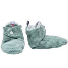 Chaussons en coton Ciumbelle vert d'eau (6-12 mois)