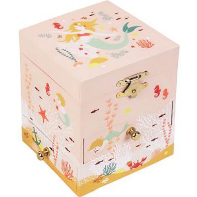 Boîte à bijoux musicale phosphorescente Sirène  par Trousselier