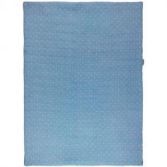 Couverture en coton Pure bleue (75 x 100 cm)