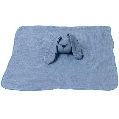 Doudou plat lapin bleu Lapidou  par Nattou
