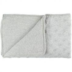 Couverture en jersey gris clair Mix et Match (100 x 140 cm)