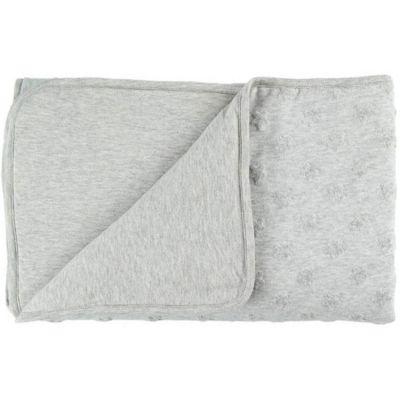 Couverture en jersey gris clair Mix et Match (100 x 140 cm)  par Noukie's