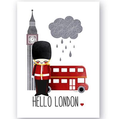 Affiche A4 Voyage Londres  par Kanzilue