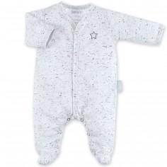Pyjama léger jersey Cosmi gris plum (naissance : 50 cm)