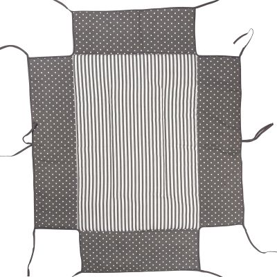 Tour de parc avec tapis molletonné pois gris Lucilee  par Geuther