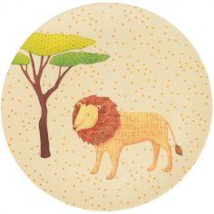 Grande assiette en bambou lion Safari (25 cm)