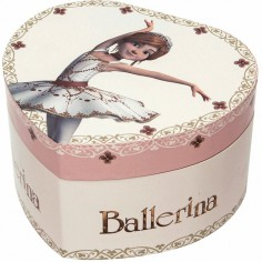 Boîte à bijoux musicale phosphorescente coeur Ballerina