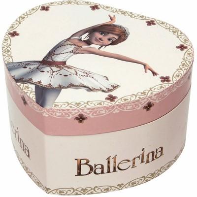 Boîte à bijoux musicale phosphorescente coeur Ballerina  par Trousselier