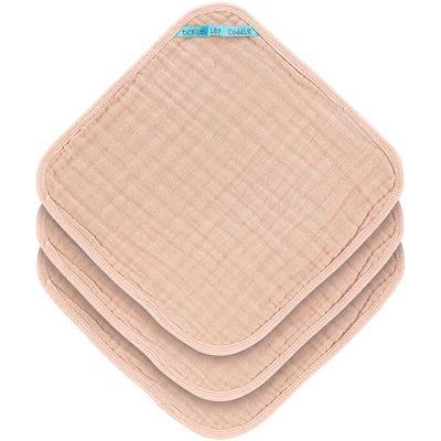 Lot de 3 débarbouillettes en mousseline rose pâle (30 x 30 cm)  par Lässig