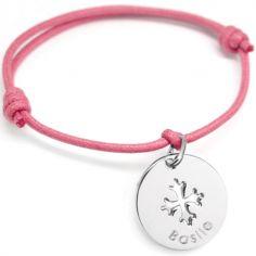 Bracelet cordon maman Croix Occitane (argent 925°)