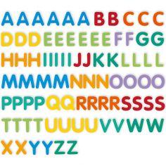 Lettres majuscules magnétiques (83 pièces)