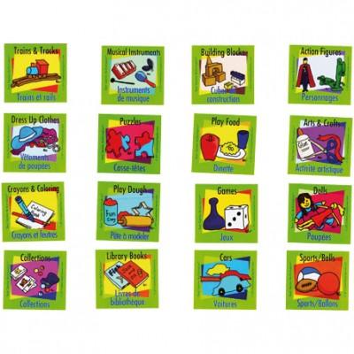 Etiquettes adhésives de rangement jouet (lot de 16)  par Easy Daysies