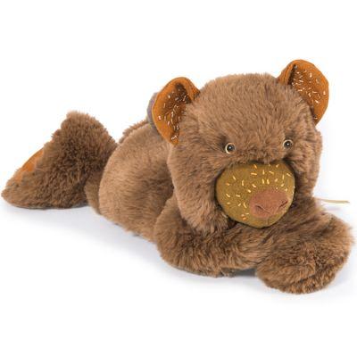 Peluche Chanterelle ourson brun Rendez-vous chemin du loup (30 cm)  par Moulin Roty