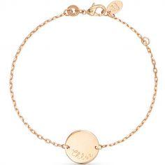 Bracelet Pastille sur chaîne personnalisable (plaqué or)