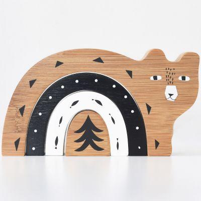 Ours à empiler en bambou  par Wee Gallery