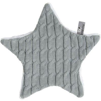 Doudou plat étoile Cable Uni gris (30 cm) Baby's Only