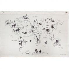 Affiche en tissu Carte du monde