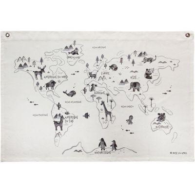 Affiche en tissu Carte du monde  par Rose in April