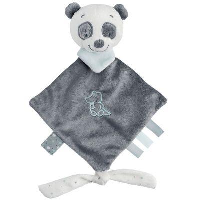 Doudou attache sucette panda Loulou (20 x 38 cm) Nattou