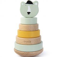 Tour à empiler en bois ours Mr. Polar Bear