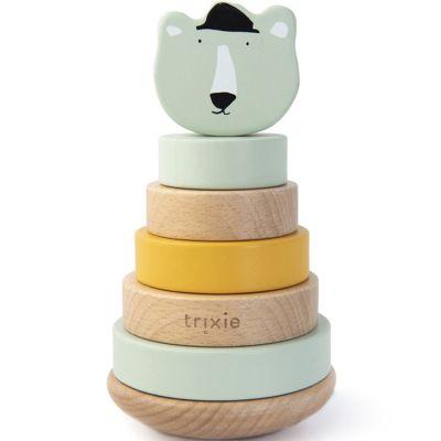 Tour à empiler en bois ours Mr. Polar Bear  par Trixie