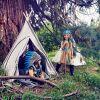 Coiffe indienne Leyati bleue  par Souza For Kids